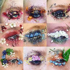 Nový trend ve světě make upu: Květinový Make up! Eye Makeup Art, Skin Makeup, Eyeshadow Makeup, Makeup Inspo, Makeup Inspiration, Beauty Makeup, Younique Eyeshadow, Revlon Makeup, Yellow Eyeshadow