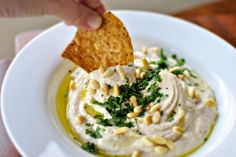 Roasted Lemon & White Bean Hummus | 25 Vegan Recipes For Super Bowl Sunday