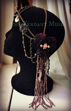 Art nouveau chain headdress by the Verdant Muse
