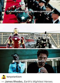 Steve and Bucky may have a pretty close friendship, but Tony and Rhodey are a pretty close second, if not equal to them