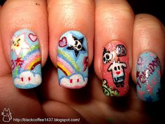 ok. seriously. i have to find someone to do this for me. i need some tokidoki nail art ASAP!!!!