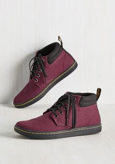 Kindred Soles Sneaker. Youve found the ultimate easygoing partner for walking your pooch, running errands, and playing in the park - these burgundy sneakers by Dr. #red #modcloth
