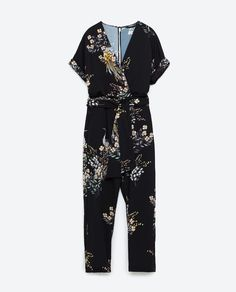 Image 8 of PRINTED CROSSOVER JUMPSUIT from Zara - size medium