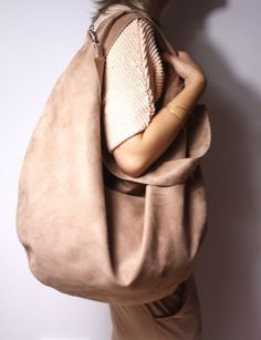 Hobo Fuchsia P Zuzia Górska/ Hobo Bag, Leather Backpack, Camel, Nude, Beige, My Style, Etsy, Walking, Diy Bags