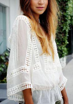 {white summer blouse}
