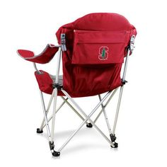 Reclining Camp Chair - Red (Stanford University - Cardinal) Digital Print