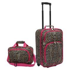 Traveler 2 Piece Leopard Print Fashion Carry-On Luggage Set Cute Luggage, Best Luggage, Carry On Luggage, Luggage Sets, Luggage Suitcase, Womens Luggage, Checked Luggage, Pink Leopard, Cheetah Print