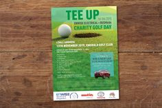 A5 flyer, A4 poster, golf charity event flyer