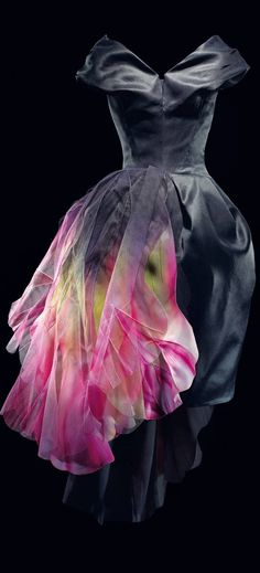 Christian Dior by John Galliano Haute Couture Autumn/Winter 2010 ~ Hand-painted Black Organza Dress