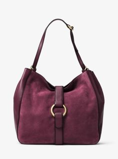 41b3e61f7804 Quincy Large Suede and Leather Shoulder Tote