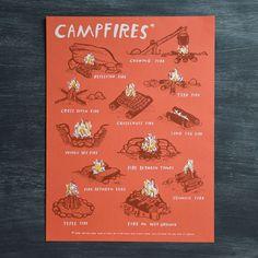 Campfires Art Print – Paper Luxe