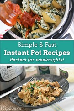 13 Easy Instant Pot Recipes for Busy Weeknights Quick dinner Pressure Cooker Recipes, Pressure Cooking, Slow Cooker, Cooking Risotto, Easy Weekday Meals, Spaghetti Dinner, Best Instant Pot Recipe, Italian Dishes, Clean Eating Snacks