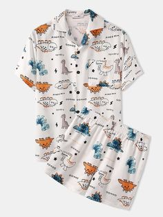 Cute Pijamas, Cute Pajama Sets, Loungewear Set, Loose Shirts, Two Piece Outfit, Two Pieces, Clothes For Sale, Look Fashion, Nightwear
