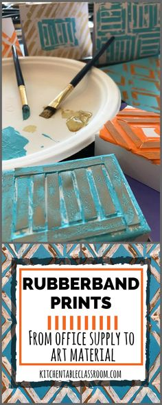 You can use practically any found object to make a print.Empty out your pencil drawer and get started on these bold, graphic rubber band prints.