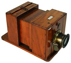 He used a wet plate box camera to take his photographs. Antique Cameras, Old Cameras, Vintage Cameras, Plate Camera, Box Camera, Invention Of Photography, Wooden Camera, Classic Camera, Photography Camera