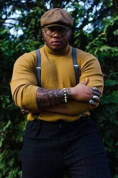 big and tall male character inspiration Chubby Men Fashion, Big Men Fashion, Fashion Shirts, Fashion Photo, Mode Masculine, Black Boys, Black Men, Style Masculin, The Man From Uncle
