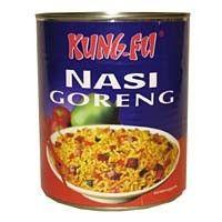 Kung Fu nasi goreng ( blik ) 700 gram Nasi Goreng, Kung Fu, Coffee Cans, Canning, Drinks, Food, Drinking, Beverages, Essen