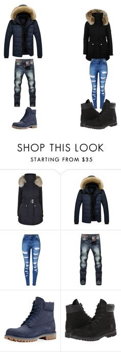"""""""its cold outside"""" by dbljalex ❤ liked on Polyvore featuring K100 Karrimor, WithChic and Timberland"""