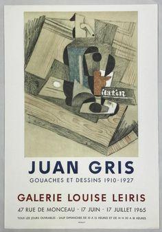Juan Gris, Galerie Louise Leiris, 1965 Exhibition Poster