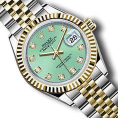 Brand New Rolex Datejust 279173 28mm Green Dial w/ Diamond Hourmarker Gold/Steel #Rolex #Casual