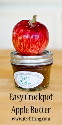 Easy CrockPot Apple Butter recipe! Perfect for giving as gifts and on toast on a crisp fall morning. (Or slathered on a warm circle of brie if you're feeling really decadent)