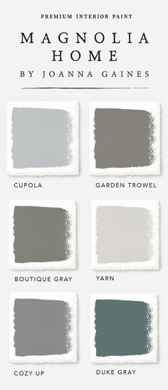 These gorgeous farmhouse style interior paint colors from designer Joanna Gaines' Magnolia Home Paint collection will have you reaching for your paintbrush in no time. Check out the rest of the collection to find the color palette that expresses your unique sense of style today. by lelia