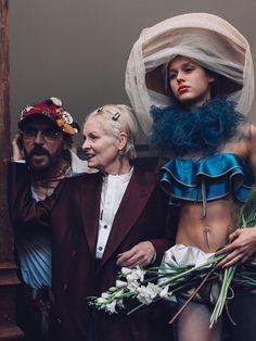 Vivienne Westwood Backstage at Vivienne Westwood Gold Label SS16