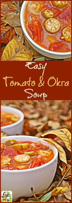 Looking for an easy to make healthy soup recipe? Check out this Easy Tomato & Okra Soup recipe. So delicious, even your kids will ask for seconds! Make a double batch and freeze half for another night's soup and salad lunch or dinner.