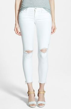 MOTHER 'Looker' Frayed Ankle Crop Jeans (Little Miss Innocent) available at #Nordstrom