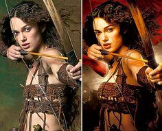 kiera knightly's amazing growing chest.    photoshop, gender, media, popular culture, body image