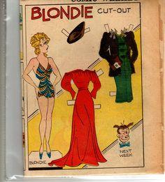 Blondie paper doll 10-30-38 Received this Sat. So glad.