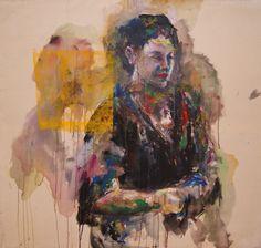 """""""Hmong"""", Mischtechnik auf Leinwand, 120 x 110 cm"""