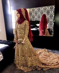 Ideas Bridal Hijab Veil Muslim Brides Make Up Hijabi Wedding, Muslimah Wedding Dress, Muslim Brides, Pakistani Wedding Outfits, Pakistani Bridal Dresses, Pakistani Wedding Dresses, Bridal Outfits, Bridal Lehenga, Wedding Abaya