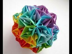 kusudama - modular origami - Spides: icosahedron - tutorial - dutchpapergirl - YouTube