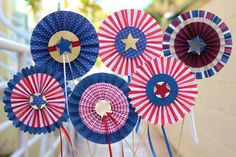 Fourth of July Rosettes