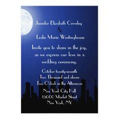 Night City Scape Wedding Invitation