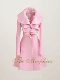 Pink Ruffle Collar Princess Coat by Morpheus.