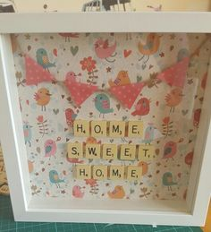 Home sweet home scrabble photo frame
