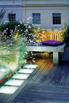 pavers that double as lighting....so many possibilities. by garden designer Charlotte Rowe