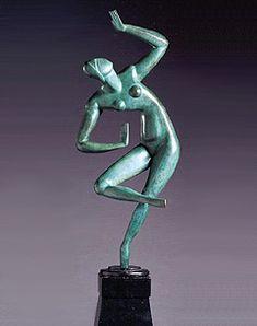 Alexander Archipenko ,Blue Dancer 1913,bronze / Ukrainian avant-garde artist, sculptor, and graphic artist #sculpture #ukraine