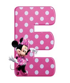 Mickey Mouse Letters, Minnie Mouse Stickers, Mickey Mouse Images, Theme Mickey, Minnie Png, Minnie Mouse Pink, Mickey Birthday, Baby Mouse, Minnie Mouse Party Decorations