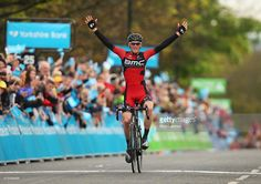 Ben Hermans of Belgium and BMC Racing Team celebrates winning Stage 3 of the Tour of Yorkshire from Wakefield to Leeds on May 3, 2015 in Leeds, England.