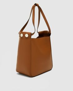 a235b2f7d491 Image 3 of BUCKET BAG WITH STUDDED DETAIL from Zara Bucket Bag, Bags,  Handbags