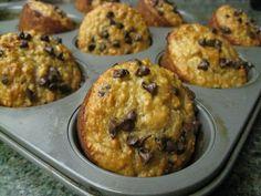 Banana Oatmeal Chocolate Muffins