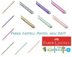Νέα Σειρά μολυβίων της Faber Castell Sparkle 2019!!!! Το σώμα του μολυβιού είναι επικαλυμμένο με περλέ χρώμα και το πίσω μέρος με γκλίτερ!!!!!Σε απαλά παστέλ χρώματα. Faber Castell, Sparkle, Personal Care, Beauty, Design, Self Care, Personal Hygiene, Beauty Illustration