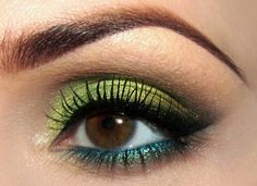 The Best Eyeshadow Colors for Brown Eyes green
