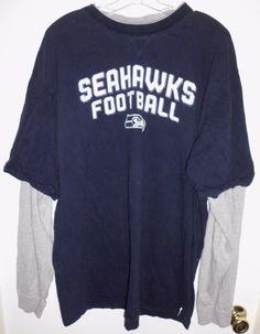 "SEATTLE SEAHAWKS FOOTBALL Reebok Team Apparel Shirt Top 50"" Chest Men's VGC #ReebokTeamApparel #SeattleSeahawks"