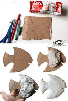 Clay Fish - Clay Fish Clay Fish Clay Fish Welcome to our website, We hope you are satisfied with the content we - Clay Crafts For Kids, Kids Clay, Crafts For Teens To Make, Toddler Crafts, Art For Kids, Fish Crafts, Clay Wall Art, Clay Art Projects, Paper Mache Crafts