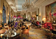 Four Seasons George V, Paris. Best hotel with all my sweet family.  Unforgettable.