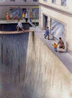 Living Car Free - Illustration shows how much public space we've surrendered to cars - [HR][/HR] [HR][/HR] One picture is worth a thousand words. This brilliant illustration shows how much public space we've surrendered to cars - Vox New Urbanism, Car Illustration, Pedestrian, Urban Planning, City Streets, Akita, Satire, Mobiles, Street Art